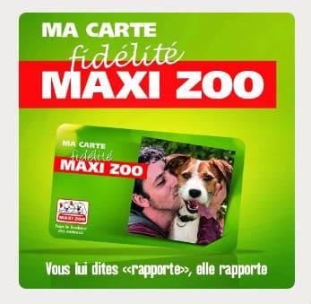 Carte fidelité Maxi Zoo