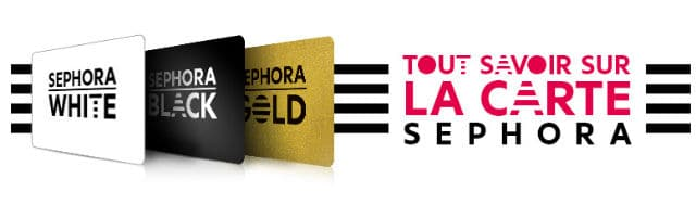 Carte Black Gold Sephora.Avis Cartes De Fidelite Sephora White Black Et Gold
