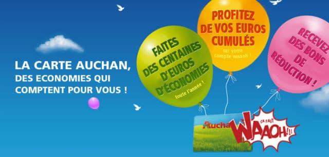 Carte de fidélité Auchan Waaoh