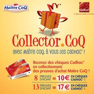 Collector m itre coq ch ques cadeaux gratuits codes barres - Cheque cadhoc liste magasins ...