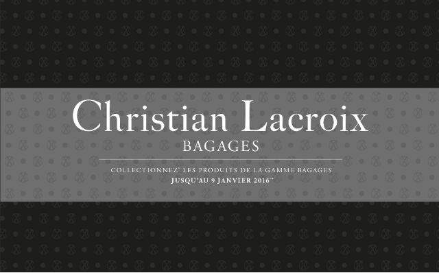 op ration vignettes collecteur bagages christian lacroix carrefour 2015. Black Bedroom Furniture Sets. Home Design Ideas