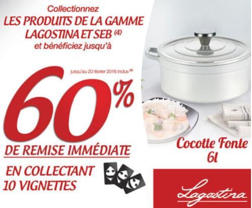 Op ration vignettes lagostina carrefour - Cocotte fonte lagostina ...
