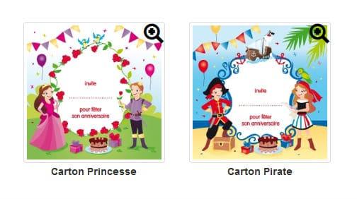 Cartons Anniversaire Kinder