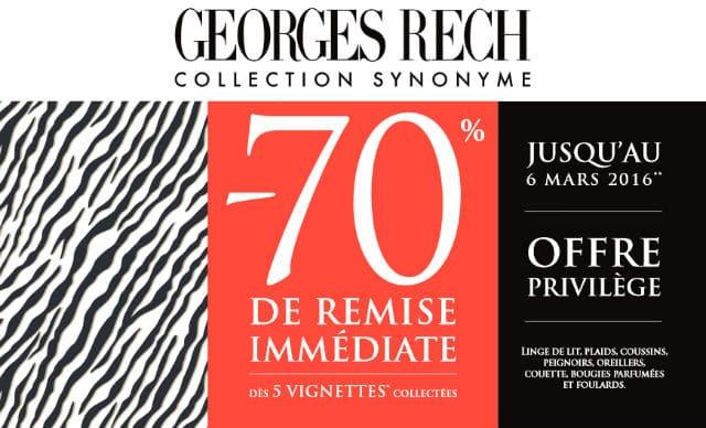 linge de lit george rech Opération Vignettes Georges Rech Synonyme Carrefour Market linge de lit george rech