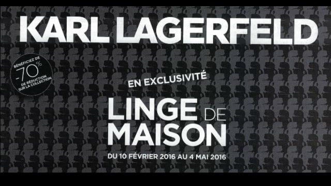 Leclerc Serviette De Plage.Vignettes Linge De Maison Karl Lagerfeld Leclerc