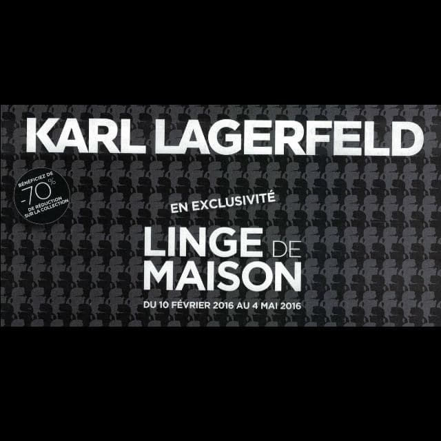 vignettes linge de maison karl lagerfeld leclerc. Black Bedroom Furniture Sets. Home Design Ideas