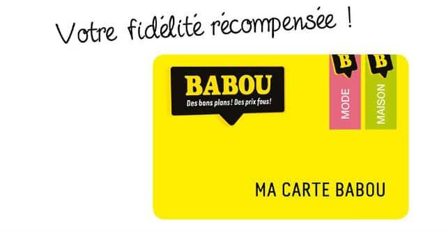 Carte de fidélité Babou
