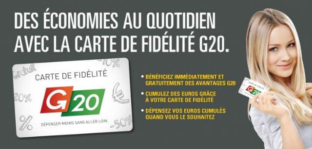 Carte de fidélité G20