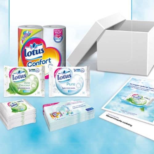 test 12 000 paquets de papier toilette lotus gratuits trnd