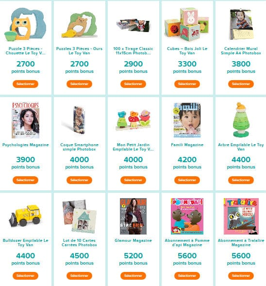 Cadeaux application Club Pampers