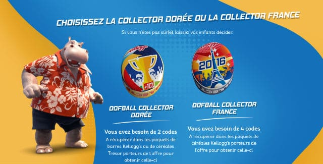 Oofball Collector Dorée France 2016