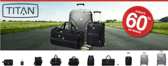 87858c115e Vignettes bagages Titan -60% Hyper / Super U