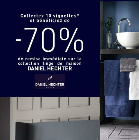 vignettes linge daniel hechter hyper u super u collecteur. Black Bedroom Furniture Sets. Home Design Ideas