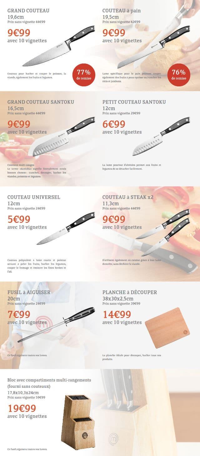 Couteaux Masterchef Intermarché 2016