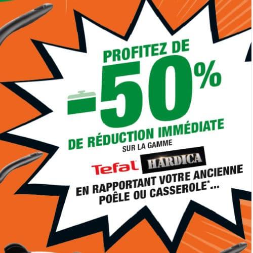Les Eco-gagnants Leclerc : Tefal à -50% si reprise de vos anciennes poêles et casseroles