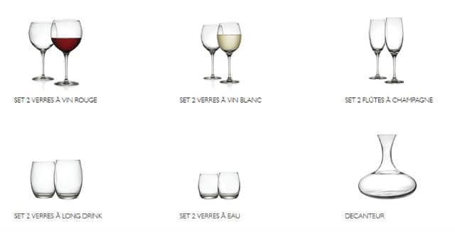 verre a eau carrefour