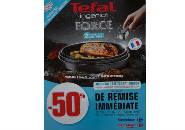 Vignettes Tefal Ingenio Force Seb Carrefour 2016
