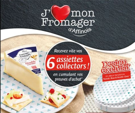 Assiettes dessert fromager d'Affinois