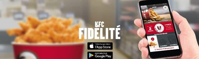 Carte application fidélité KFC