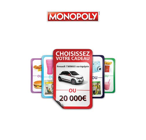 Grand jeu vignettes Monopoly Mc Donald's 2016