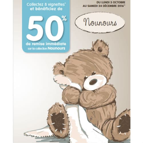 Vignettes peluches et plaids Nounours Carrefour City / Express / Contact 2016