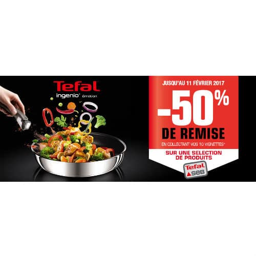Vignettes Tefal Ingenio Emotion Auchan 2016 / 2017