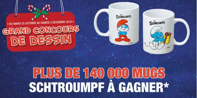 Concours Mugs Schtroumpfs gagner Magasins U