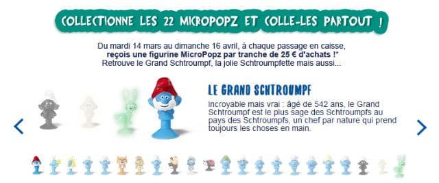 Figurines Schtroumpfs Micropopzs Magasins U