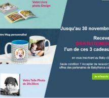 Cadeaux BabyFrance : Livre photo ou Mug ou Tableau gratuit