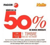Timbres Vignettes Fagor Netto 2016 / 2017
