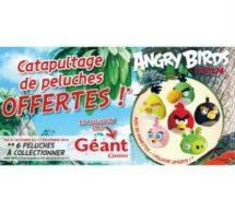 Vignettes Peluches Angry Birds gratuites Géant Casino 2016