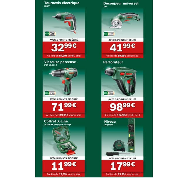 Outils Bosch Promotion Casino 2016-2017
