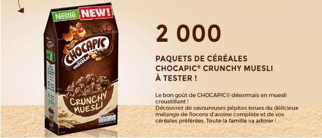 Test céréales Chocapic Crunchy Muesli
