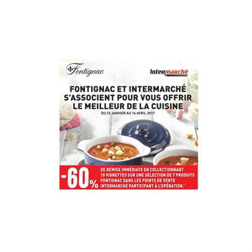Vignettes Fontignac plats en céramique Intermarché