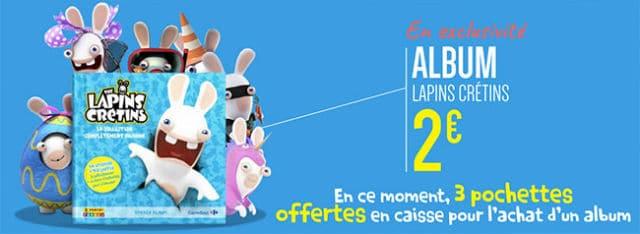 Album Panini Lapins Crétins Carrefour 2017