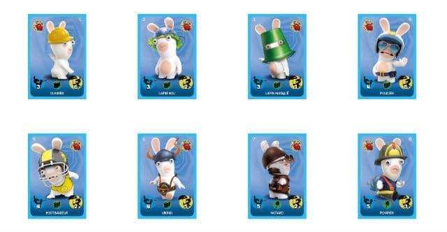 Cartes à collectionner Lapins Crétins Carrefour